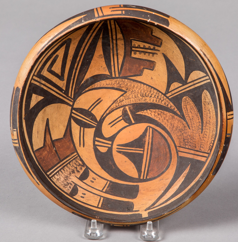 Hopi Indian polychromed bowl