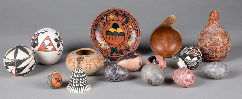 Native American Indian pottery and crafts