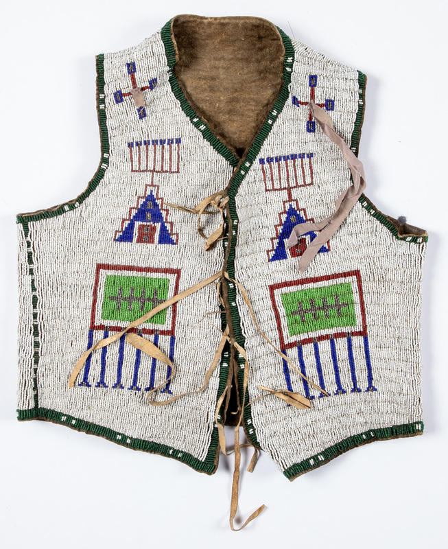 Sioux Indian beaded vest