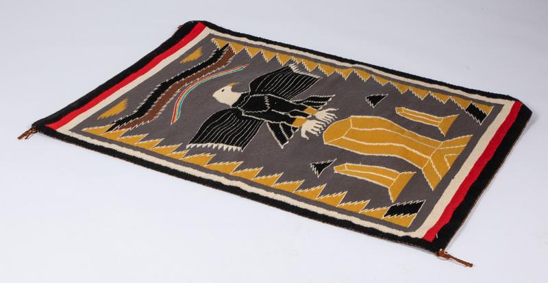 Navajo Indian pictorial eagle rug, 44