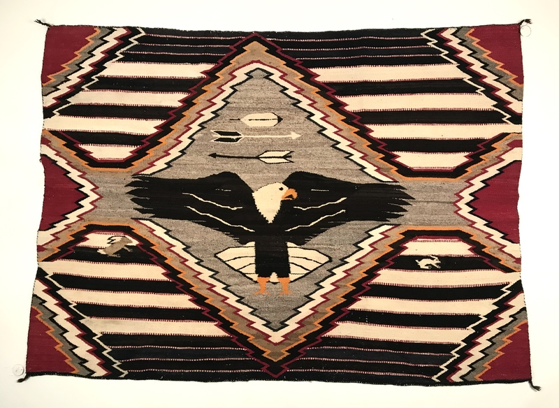 Navajo Indian third phase chief's blanket, with l