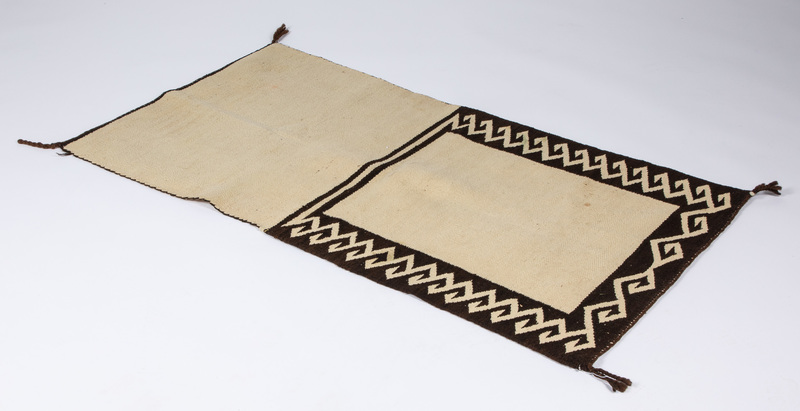 Navajo Indian saddle blanket, 30
