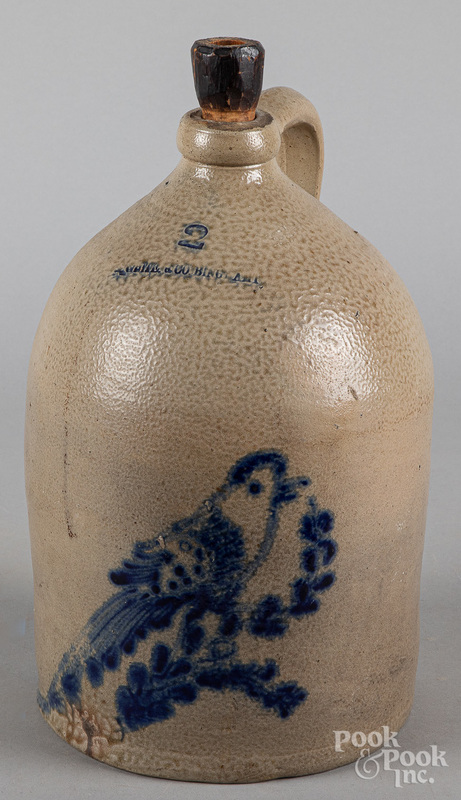 Two-gallon stoneware jug, 19th c.