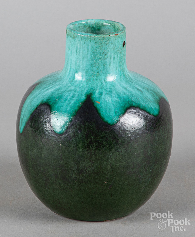 Art pottery vase, attributed to Marblehead