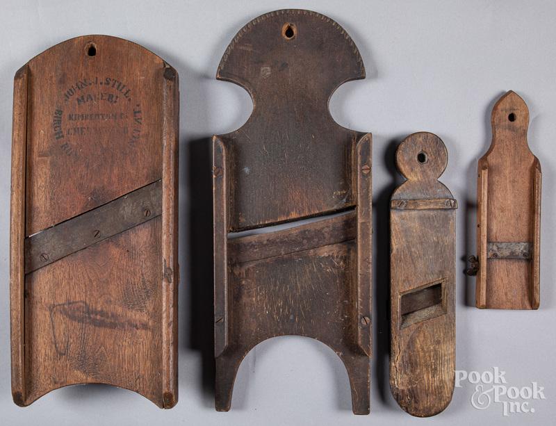 Four Pennsylvania slawboards, 19th c.