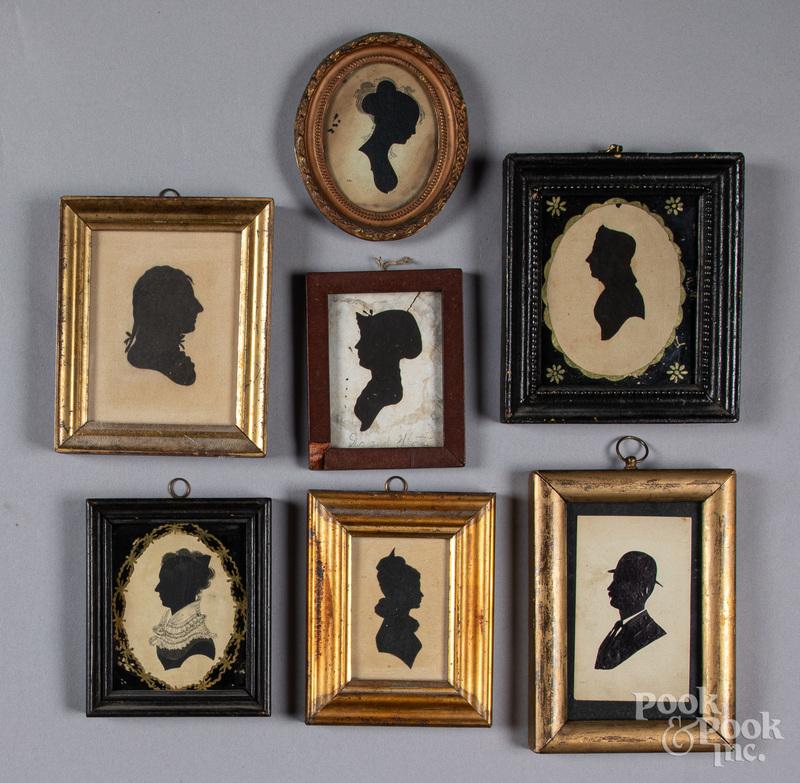 Seven silhouettes, 19th c.