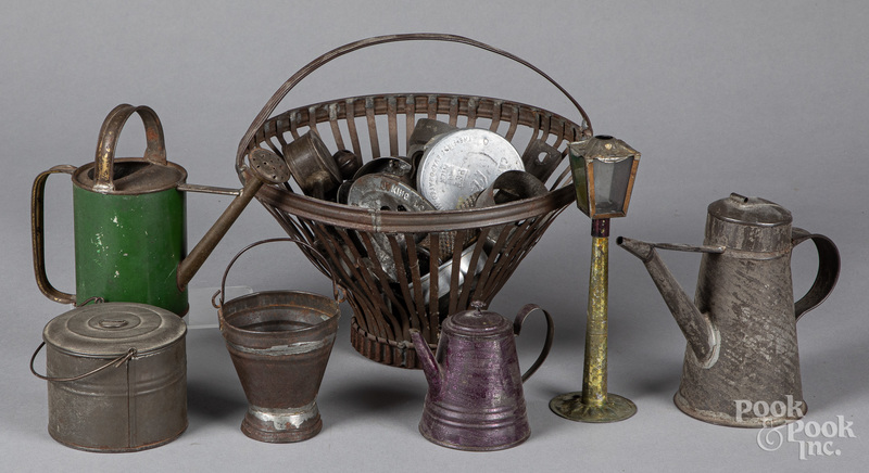 Group of early tin kitchenwares