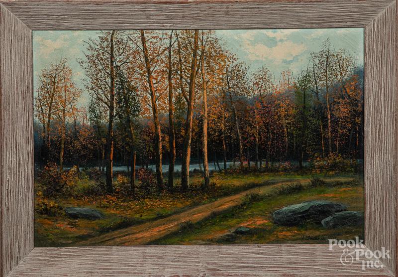 Victor Shearer oil on canvas landscape