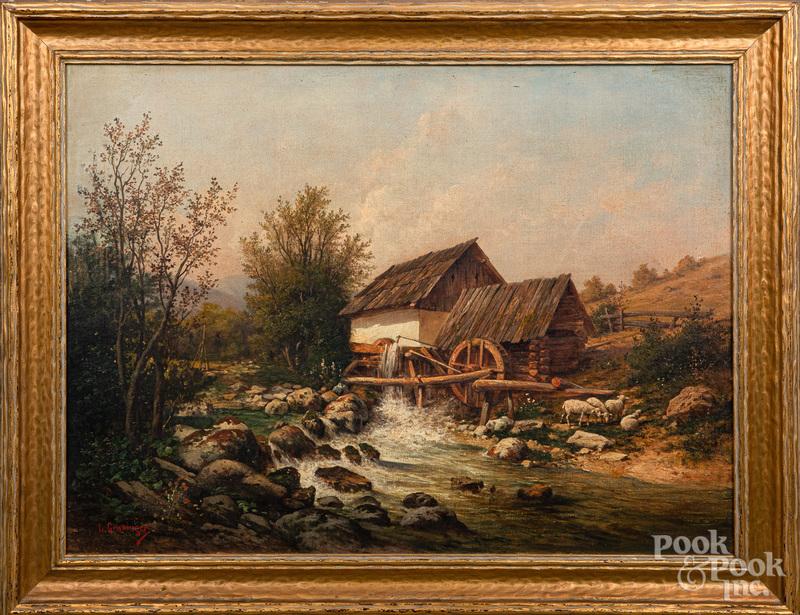 Leopold Graninger oil on canvas landscape