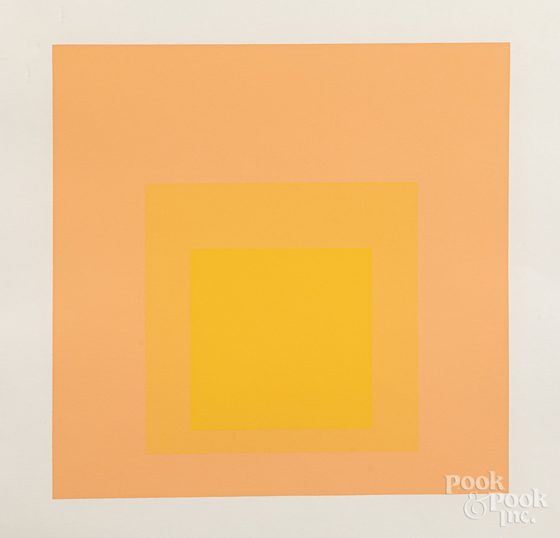 Josef Albers serigraph, Homage to the Square