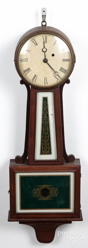 Mahogany banjo clock ca. 1900