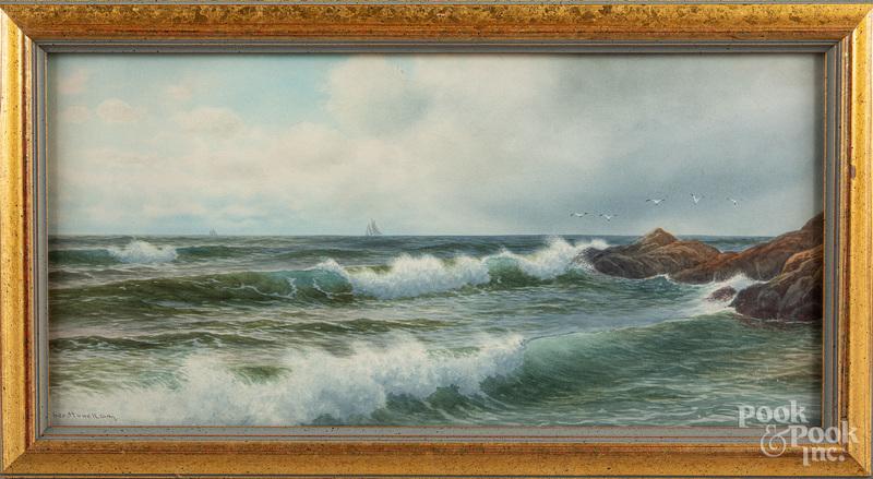 George Howell Gay watercolor coastal scene
