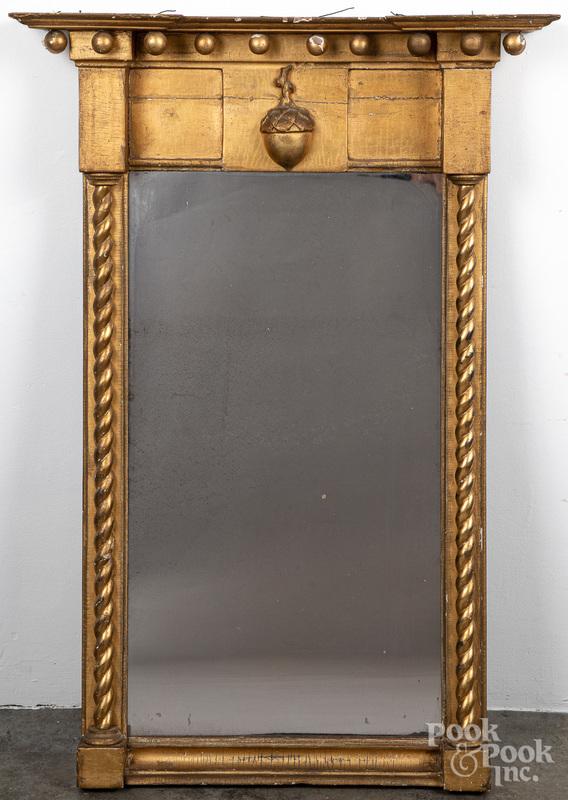 Federal giltwood mirror, 19th c.
