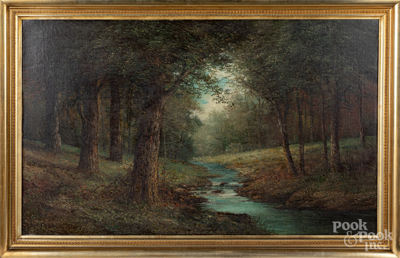 Jay Taylor oil on canvas wooded landscape
