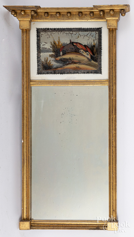 Federal giltwood mirror, early 19th c.