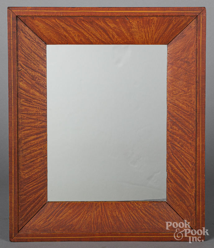 Three mirrors, 19th c., with painted frames