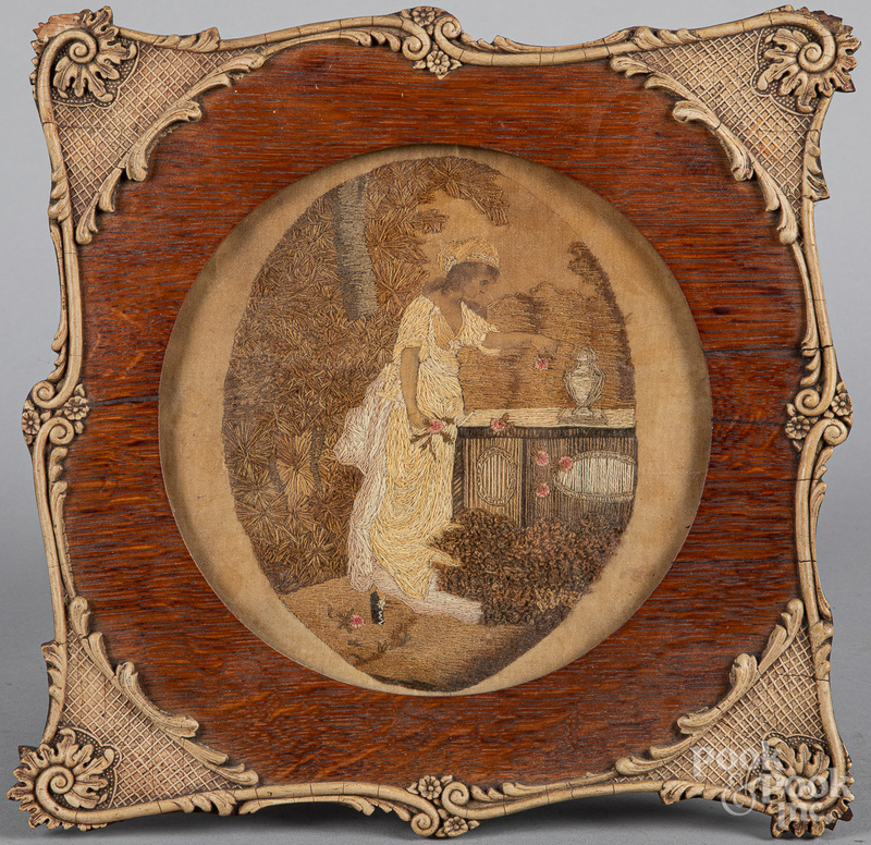 Two needlework memorials, 19th c.