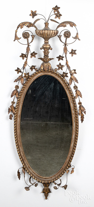 Giltwood mirror, early 20th c.