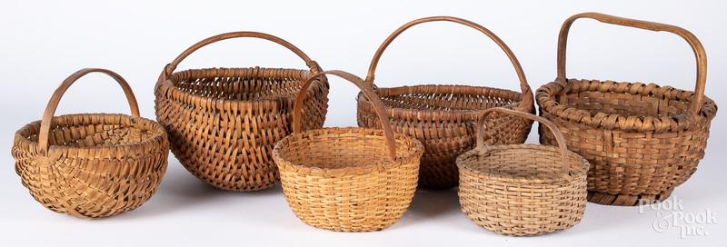 Six assorted baskets