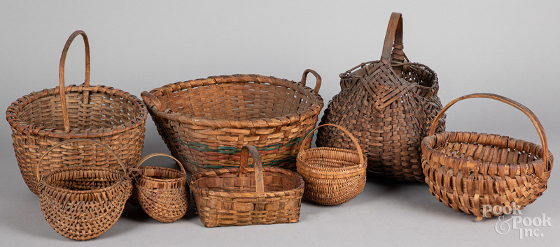 Eight assorted baskets