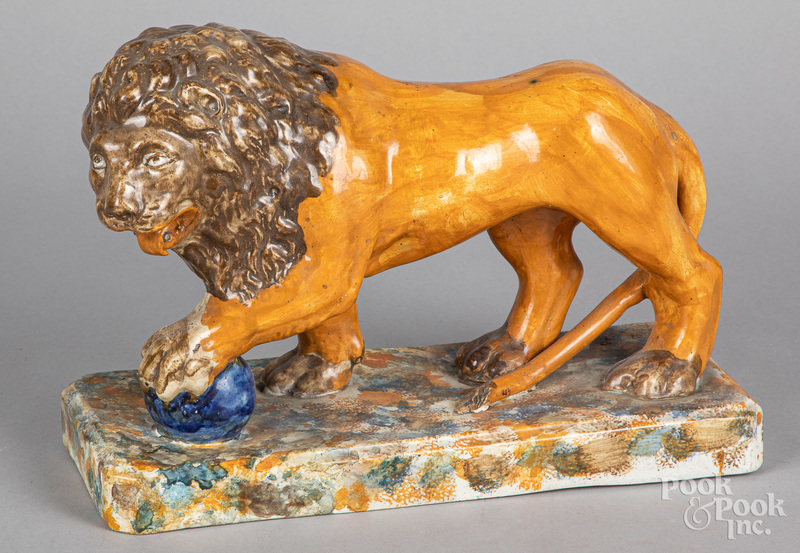 Pearlware lion, 19th c.