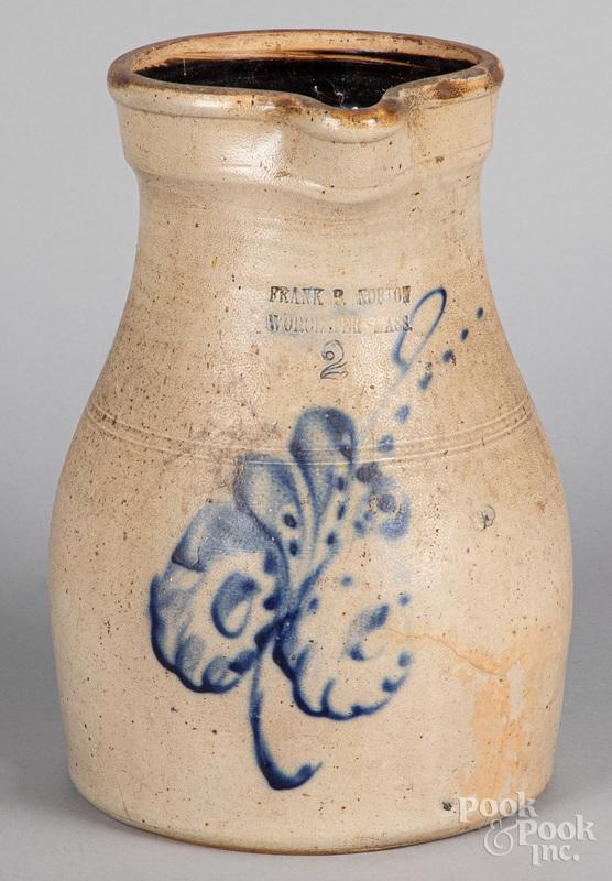 Two-gallon stoneware pitcher, 19th c.