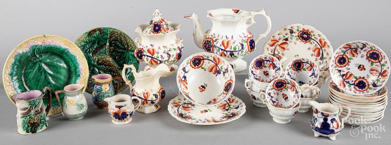 Gaudy Welsh porcelain, etc.