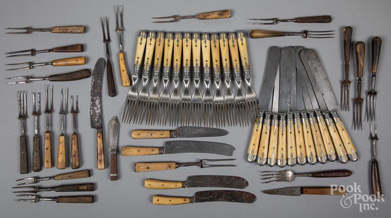 Early bone and wood handled utensils