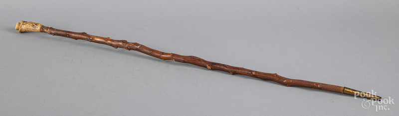 Stag-handled walking stick, 19th c.
