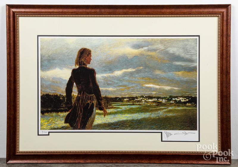 Jamie Wyeth signed print The Wanderer