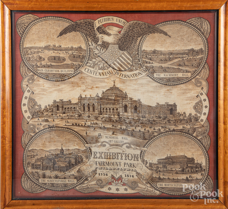 Centennial Exhibition handkerchief