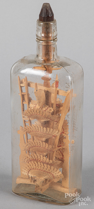 Carved whimsey in a bottle