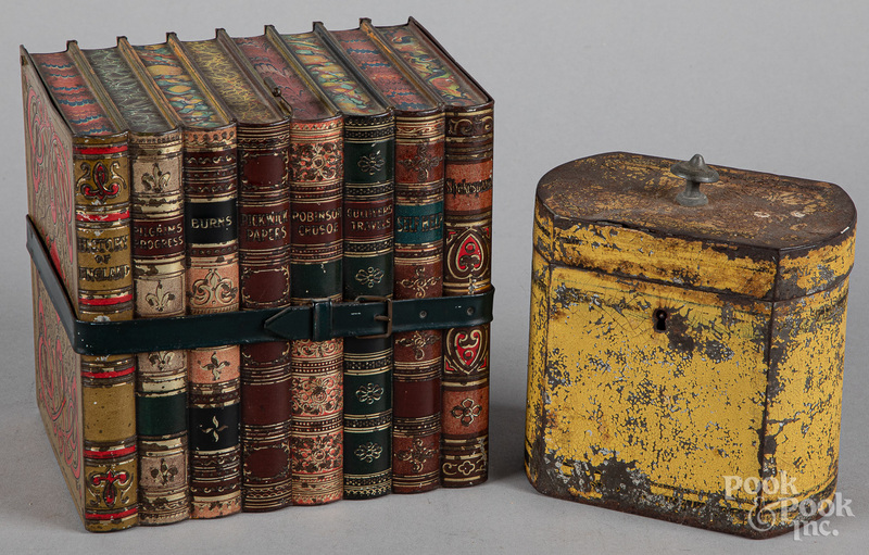Huntley and Palmers biscuit tin, etc.
