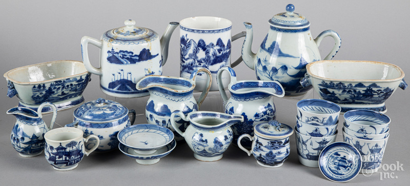 Chinese export blue and white Canton porcelain