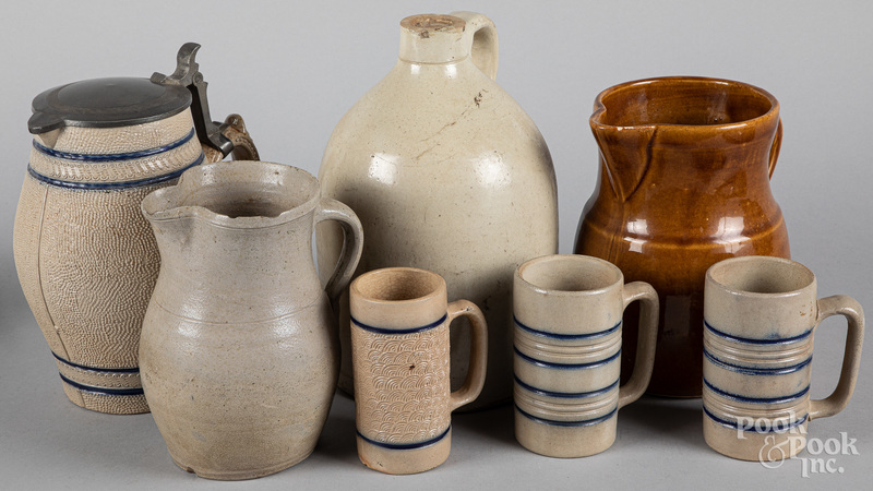 Group of stoneware and pottery