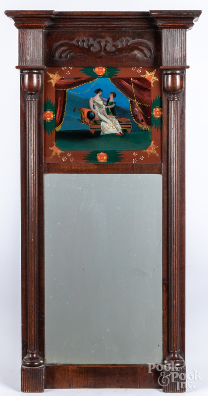 Federal mahogany mirror, ca. 1830