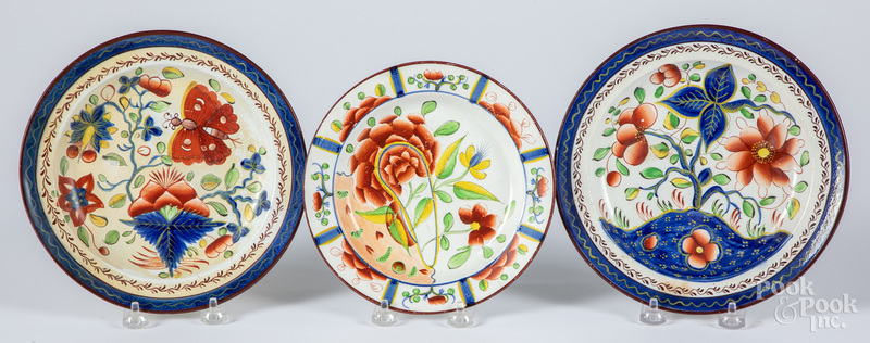 Three Gaudy Dutch plates