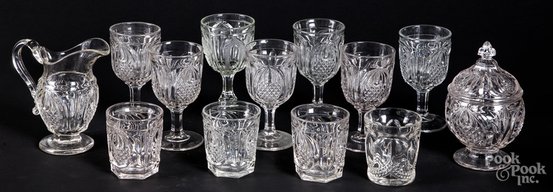 Large group of colorless glass