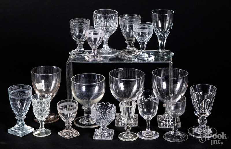 Colorless glass cordials and stemware