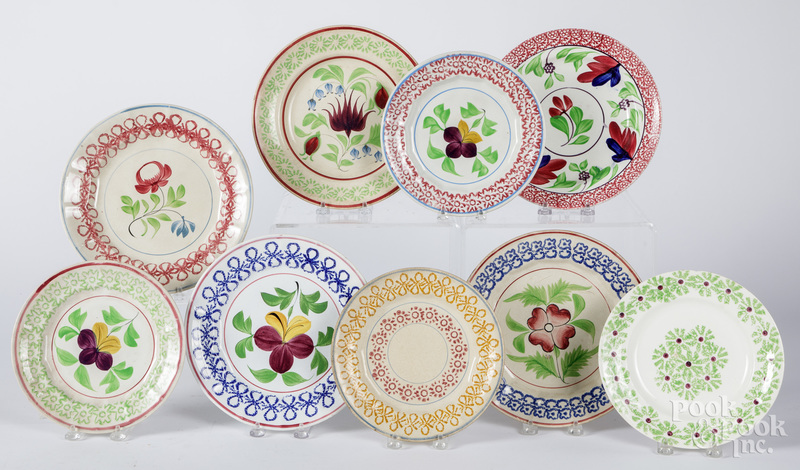 Nine stick spatter plates