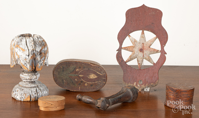Woodenware to include a painted bentwood box