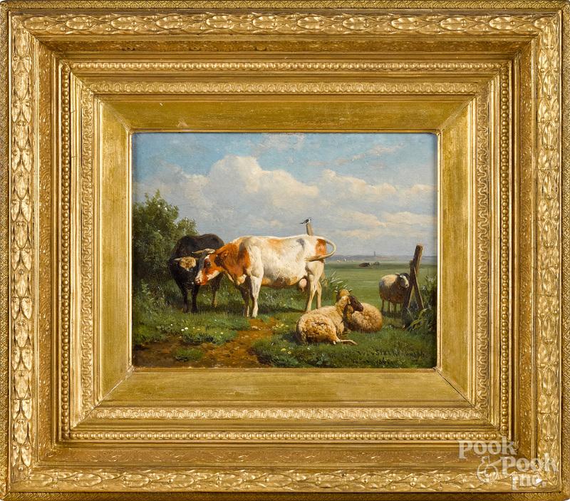 William Starkenborgh oil on panel landscape