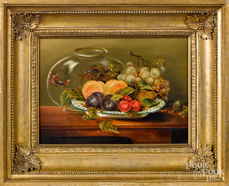 James Peale oil on panel still life