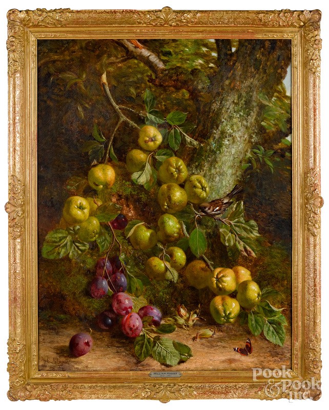 William Hughes oil on canvas still life