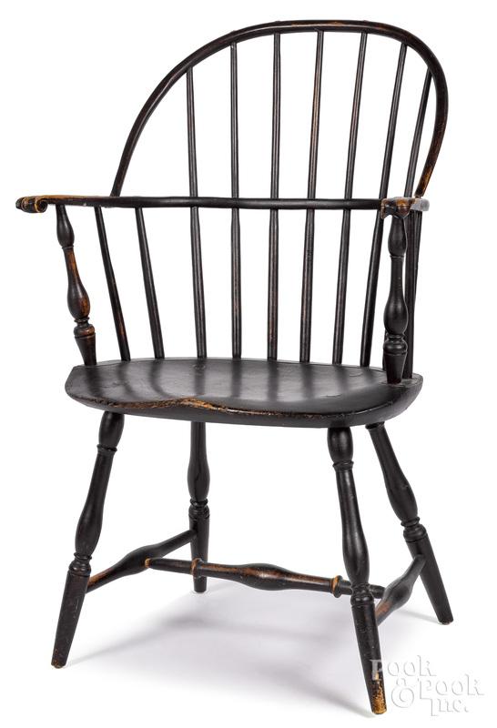 New England sackback Windsor chair, ca. 1800