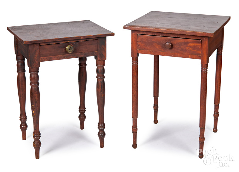 Two Pennsylvania or Ohio one-drawer stands