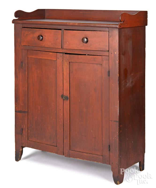 Pennsylvania stained poplar jelly cupboard