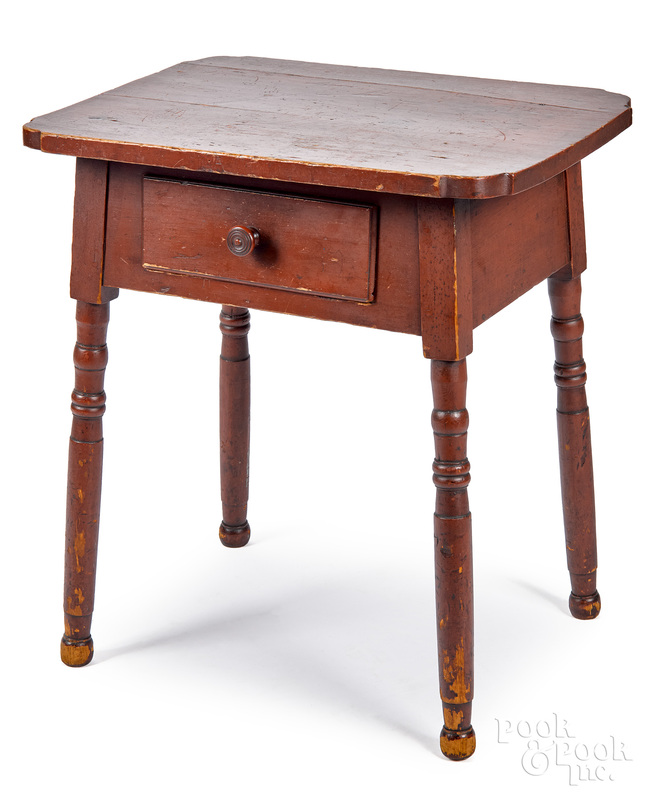 Pennsylvania Sheraton painted one-drawer stand