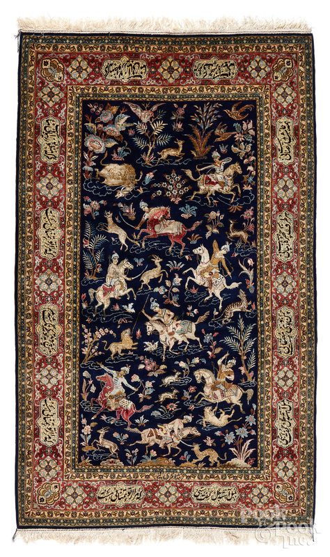 Isfahan pictorial rug