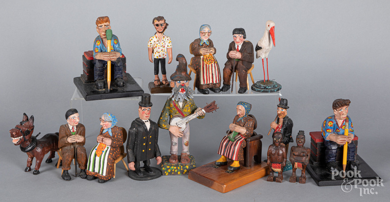 Group of Fred Faber carved and painted figures